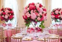 Pink Wedding Ideas / There is no limit to how pink can be incorporated into the wedding details. From the flowers to the paper goodies and table settings, pink is the perfect neutral color with an added hint of romantic allure. / by MODwedding