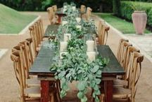 Green Wedding Ideas / Earthy and pleasant, every shade of green brings an element of nature to wedding decor while tying together the great outdoors. This beautiful color family is an inspiring reminder of the primal urge to love and to be loved. / by MODwedding