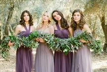 Bridesmaid Dresses / As you ask your best friends to stand beside you on your wedding day, think about what kind of bridesmaid dresses you'd like to see them in. From mismatched colors and styles to uniform long gowns to sparkly sequin numbers, get inspired by these bridesmaid dresses featured on MODwedding. / by MODwedding