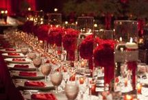 Red Wedding Ideas / Living in the lap of luxury are red wedding ideas charged with ultra romance and a seductive sweetness. When we think of a passionate celebration centered on intimacy, red is the color that often comes to mind. / by MODwedding