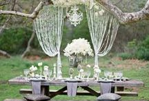 Outdoor Wedding Ideas / The outdoor wedding encompasses the best of two brilliant worlds: intimate glamour and an appreciation for mother nature. Some of these gorgeous ideas are like real life fairy tales--so stunning we almost have to pinch ourselves just to make sure we're not dreaming.