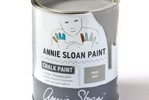 Paris Grey / Inspirational pieces painted in Paris Chalk Paint® with Wall Paint and Coloured Linens.