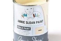 Cream / Inspiration using Chalk Paint® furniture paint by Annie Sloan in Cream.  Cream is a soft creamy yellow in the Chalk Paint® palette, based on the traditional yellowish colour that was used on old woodwork. You can use it as part of a retro 1950's look or pair it with Paris Grey for a vintage French look.