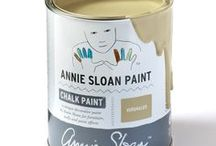 Versailles / Inspirational pieces painted in Versailles Chalk Paint® with Wall Paint and Coloured Linens.