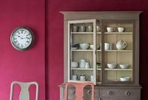 Burgundy / Inspirational pieces painted in Burgundy Chalk Paint®,with Wall Paint and Annie Sloan Coloured Linens.  / by Annie Sloan Home