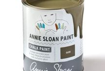 Olive / Inspirational pieces painted in Olive Chalk Paint® with Wall Paint and Coloured Linens.