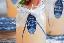 Signature Wedding Drink Ideas / His and Hers cocktail creations are a popular wedding trend. WIth these signature wedding drink ideas, not only will your cocktails be unique to your custom drink, they will look pretty too! / by MODwedding