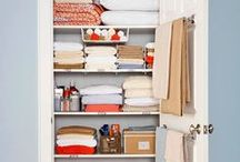 Storage and organization / How to get a better organization at home. Storage ideas for any room and space.