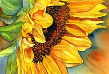 Sunflowers Make Me Happy / I love sunflowers and I love Italy.  How fitting that they grow there.
