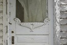 """Divine Doorways / I have been fortunate enough to view many gorgeous doors - my favorite being in Italy and Greece.  A doorway can say a lot... like """"Welcome"""" with a capital 'W'.  Those are the ones I love."""