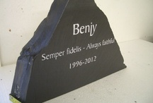 Benjy Pet Memorial Case Study / A memorial that we made this week. A few photos of different angles to try and show the high quality nature of our pet memorial stones.