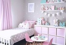 Bedroom for girls / Ideas for a girls room. Not everything has to be pink.
