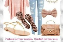 Daily Outfits + Fashion Ideas / Fun, fashionable ideas for outfits including Piggy Pillows fashion insoles.