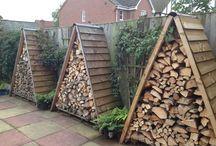 Wood log storage ideas / Wood and log storage ideas