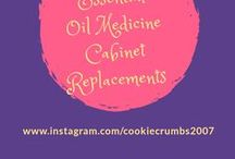 Essential Oils Medicine Cabinet Replacements / Therapeutic Grade Essential Oils have so many great uses and can easily replace items in your medicine cabinet!  Check out these #eoblends for inspiration and start replacing your toxic medicine cabinet items with natural and pure essential oils.