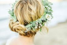Lovely Wedding Hair / Updos, hair down, half up, braids, topknots - we love them all for our brides!