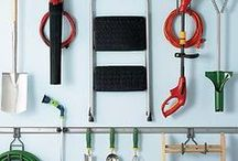 Get Organized!   Garage / Ideas for getting our small garage in better working order. / by Deanna Denk