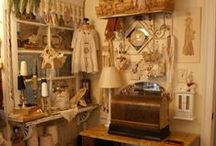 Studio Inspiration & Ideas / Design, Sewing, Scrapbooking, Craft Room Inspiration & Ideas {particularly vintage}