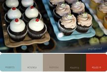 Red color palettes / Red can be a difficult color to work with. Use it sparingly and with the right color palette.