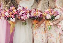 Floral Bridesmaid Dresses / Floral print bridesmaid dress inspiration & finds