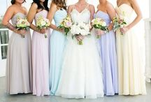 Ice Cream Pastel Bridesmaid Dresses / Mixed pastel bridesmaid dress inspiration & finds
