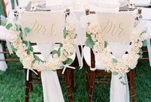 Wedding Chair Decor / Gorgeous details and decoration for wedding chairs.