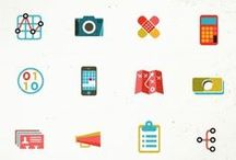 Badges + Icons / by Kaitlyn Eve Cook