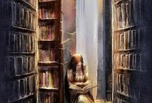 Written ṩҭὄʀἷἔṩ... / My favorite books and illustrations of books and bookshelves.