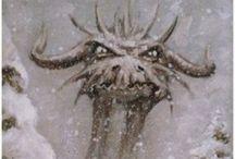 Ꭿཞɬ: Dragons... / Dragons Fantasy fire ice earth stone