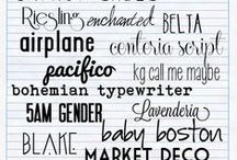 fonts and printables / by Millie Jennings