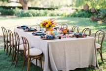 Tablescapes / My collection of place settings, table clothes, and centerpieces galore! Jaw dropping designs ranging from beautifully bohemian to classy all white styles.