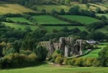 """Wales """"Cymru am byth"""" / I've always been intrigued by the Celtic history of Wales. Did you know the longest place name on the planet is found in North Wales? Llanfairpwllgwyngyllgogerychwyrndrobwyll-llantysiliogogogoch. The name translates as """"The church of St. Mary in the hollow of white hazel trees near the rapid whirlpool by St. Tysilio's of the red cave.""""  Whew!"""