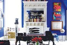 An Ode to Color / Beautiful rooms decorated in bold hues.
