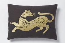 Pillows / DIY pillows, pillow ideas, pillow inspiration, floral pillows, edgy pillows, black pillows, velvet pillows, color block pillows