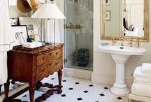 Bathrooms / Bathrooms, classic bathrooms, vintage bathrooms, vintage eclectic bathrooms, bathroom makeovers, bathroom inspiration, bathroom ideas