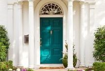 Windows and Doors / Painted doors, painted windows, colorful doors and windows, curb appeal