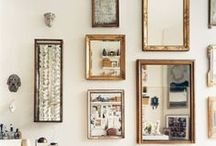 Mirrors / Mirrors, mirrored gallery wall, vintage mirrors, floor to ceiling mirrors, gold mirrors, gilded mirrors, DIY mirror ideas, mirror insiration
