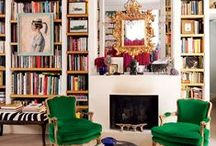 Shelves / Shelving ideas, wood shelves, metal shelves, painted shelves, library ideas, home library, home library inspiration, how to style a shelf