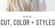Hair Cut, Color + Styles