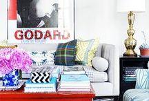 Style Decor: White Walls and Color / Living spaces with white walls and color decor, White walls, Eclectic interiors, white on white home decor, white walls and colored furniture, eclectic spaces with white walls