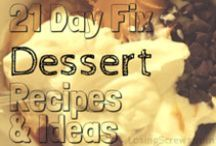 21 Day Fix Desserts / 21 Day Fix friendly dessert recipes. Also great for those looking for some healthy clean eating sweet tooth ideas and inspiration.