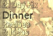 21 Day Fix Dinner Ideas / 21 Day Fix friendly dinner recipes. Also great for those looking for some healthy clean eating meal ideas and inspiration.