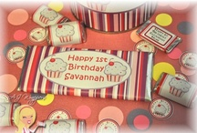 AJ Wrappers ~ Lil Cupcake Party Decor