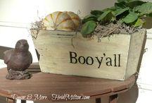"""Holidays """"Boo Y'all"""" / Halloween Fun- Crafts, cards, decor,DIY"""