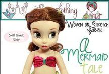 "Doll Patterns - Disney Animators / Patterns for 16"" Disney Animator dolls and It's a Small world dolls"