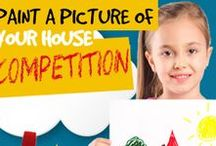 Paint a Picture Competition / Paints at the ready! We're looking for children up to the age of 11 to send us paintings they've created of either the outside or inside of their house. Closing Date 7th October 2016.