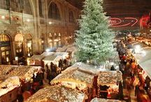Inspiring European Xmas Markets / 'Tis the season! European Christmas markets are so magical and beautiful. We're getting in the mood for the holidays by dreaming about strudel in the snow.