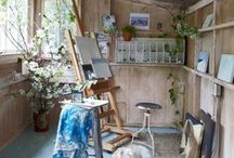 Make Space for Creativity / How can you make money off of the shed in the yard or the guest house? Are you an artist looking for affordable creative space? Here are some inso ideas for creative spaces