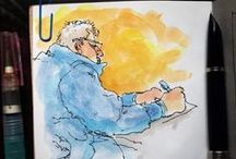 Anthony Zierhut - sketches / My watercolor, ink and pencil sketches from my sketch book / journal.