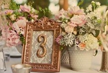 Vintage Garden Inspired Wedding / Vintage Garden inspired wedding. Color inspirations are coral, peach, and pink with cream. Full bloom flowers such as garden roses/peonies accented with silver sage.  Adding design elements such as the guest book quilt, mason jars, crates, and ornate frames will add to the overall feel of vintage garden wedding. / by Eileen Hawley